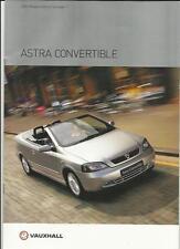 Vauxhall Astra Converible 1.6 I 16v,1.8 i 16v,2.2 i 16v Manual y Automático folleto 2003