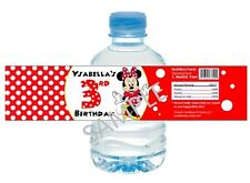 Minnie Mouse in Red Dress Water Bottle Wrappers - Birthday Party Favors - S/12