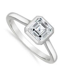18kt J/K VS1 0.75ct Asscher Cut Diamond Engagement Ring Certified