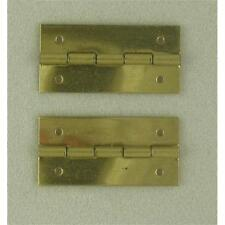 Pack of 50 Pin Fixing Brassed Hinges 25 x 12mm
