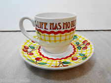 Mary Engelbreit Teacup Life Has No Blessing Like a Good Friend Cup & Saucer 8 oz