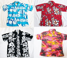BOYS LOUD HAWAIIAN SHIRT: HAWAIIAN HIBISCUS FLOWERS, holiday, party new
