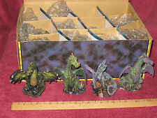 FANTASY 12 PAINTED DRAGON FIGURINES LOT (four different figures) - NEW IN BOX!