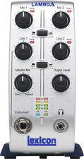 Lexicon Lambda Desktop Recording Studio 4x2 USB Interface BRAND NEW FULL WARRANT