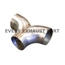 Exhaust Y-Piece Tee Piece 3 inch Stainless Steel T304 Mandrel Bend Custom Pipe