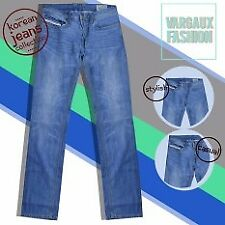 Vargaux Cheol Korean Straight Denim Style Men's Regular Fit Pants