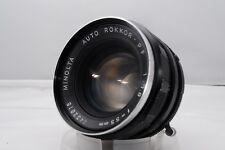 **Near Mint**MINOLTA AUTO ROKKOR PF 55mm f/1.8  MF Manual Focus Lens From Japan