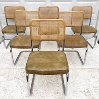 Vintage Modern Cane Back Dining Chairs- Set of Six