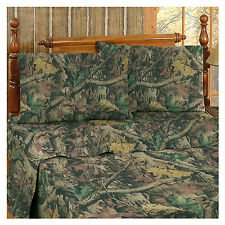 Realtree® Timber Advantage Camouflage Queen Sheet Set Percale 4 pieces - Hunting