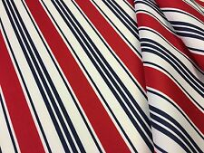 PAVILION STRIPE PU COATED RED C171 WATER REPELLENT SHOWERPROOF FABRIC