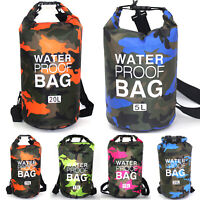 2L 5L 10L 15L Waterproof Dry Bag Storage Sack Sport Hiking Camping Kayak Fishing