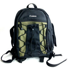 Canon Deluxe Padded Adjustable Backpack EOS SLR Camera Black Green Photo Bag