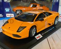 2007 Lamborghini Murcielago LP640 Orange Maisto 1:18 Scale Diecast Model Car New