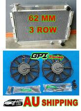 3Core Aluminum Radiator for TOYOTA LANDCRUISER 60 Series HJ60 HJ61 HJ62 MT + FAN