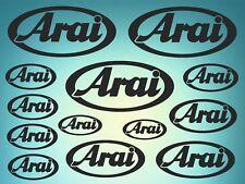 Arai - set of stickers- motosport - 13 kit- black  SK-151