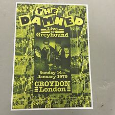 THE DAMNED - CONCERT POSTER GREYHOUND LONDON 14TH JANUARY 1979 (A3 SIZE) PUNK