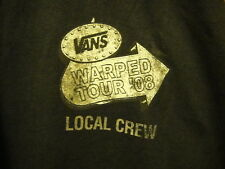 VANS WARPED TOUR 2008 ~ RARE LOCAL CREW ONLY ~ XL ~ T Shirt