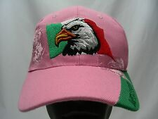 MEXICO - PINK - EMBROIDERED - ADJUSTABLE BALL CAP HAT!