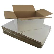 100 x White Cardboard Boxes 320x240x160mm White Packaging Carton Cardboard Box