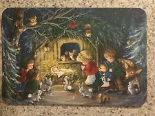 POSTCARD UNUSED CHRISTMAS NATIVITY WITH CHILDREN & ANIMALS