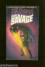 DOC SAVAGE # 91  THE PURPLE DRAGON  -  Kenneth Robeson , Bantam   SB  VG