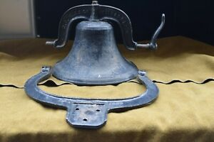 C.S. Bell And Company Dated 1886 #1 Yoke Dinner Bell Cast Iron Crystal Metal