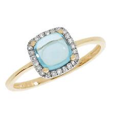 Topaz Cushion Fine Diamond Rings