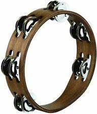 Meinl CTA2WB Compact Wood Tambourine Walnut Brown