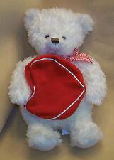 "Hallmark 18 1/2"" Teddy Bear, holding Big Red mesege bag"