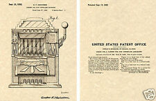 US PATENT for SLOT MACHINE Art Print READY TO FRAME Las Vegas game room