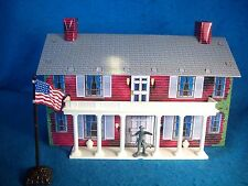Tin Civil War Southern Mansion based on the Marx playset with plastic porch