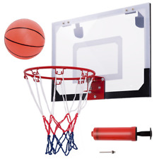 Over-The-Door Mini Basketball Hoop Includes Basketball & Hand Pump Indoor Sports