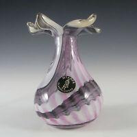 Mtarfa Maltese Organic Purple & White Glass Vase - Signed #1