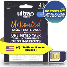 United States USA Data Call Text SIM Card Ultra Mobile T-Mobile US Pay As You Go