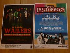 The Wailers - Scottish tour Glasgow concert gig posters x 2 (Bob Marley)