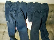 French Toast Boys Navy Blue Pull-On Uniform Shorts Pants 5 Pieces Lot Size 8