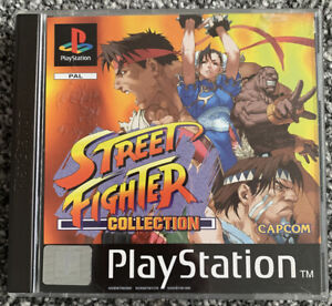 PS1 Playstation 1 Game - Street Fighter Collection - Black Label - Free UK PP