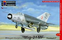 MiG-21 MF FISHBED J (POLISH, GERMAN, HUNGARIAN & SLOVAK MKGS)#85 1/72 KOVOZAVODY