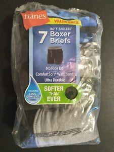 Boys' Hanes 6 Pk Tagless Boxer Briefs Size L 14-16 Assorted Camo Blue Green Blck