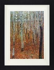 Gustav Klimt - Birkenwald Jugendstil Poster Plakat Gerahmt (40x30cm) #116970