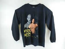 VTG WCW Men's Goldberg Who's Next Spell Out Long Sleeve Shirt Size XL