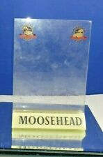 Collectible Moosehead Canadian Lager Beer Acrylic Table Top Card Display