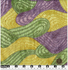 Quilting Fabric Layered Fabric Style Purple Green Yellow Fat Quarter 100% Cotton