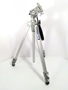 "Velbon VE-3 Professional Aluminum Tripod 22""-50"" Silver Camera/Video Adjustable"