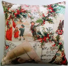 Kissenbezug Kissenhülle 40x40 cm Vintage Nostalgie Weihnachten Handarbeit