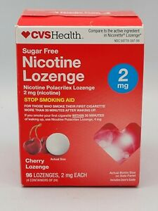 CVS Nicotine Lozenge 2mg Cherry lozenges 96 Lozenges 09/2021