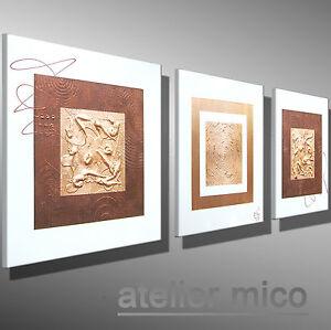 Gemälde modern MICO ORIGINAL bilder malerei Künstler Bild KUPFER - Metall