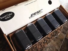 5 Bose Jewel Double Cube Speakers Premium In Black-Flawless.