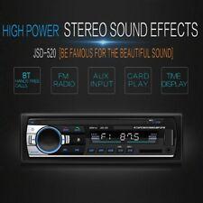 JSD-520 Bluetooth Car Audio Player Car Radio Stereo Autoradio 12V In-dash FM Aux