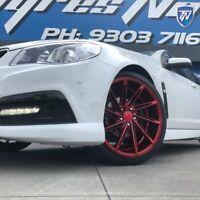 20 inch Mercedes Audi VW Wheels INOVIT TURBINE Candy Red Staggered 20x9 20x10.5